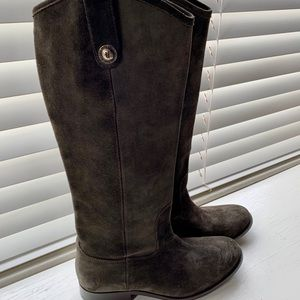 Frye Melissa Button Suede riding boot 7 NWOB